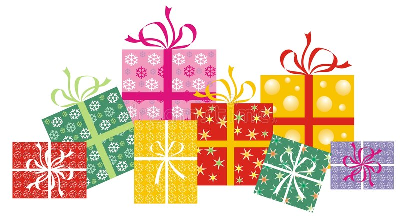 Gift wrapped royalty free illustration