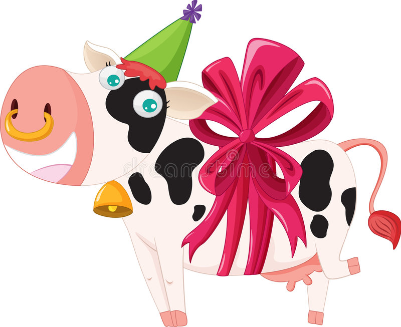 Download Gift wrapped cow stock vector. Illustration of animated - 7793245