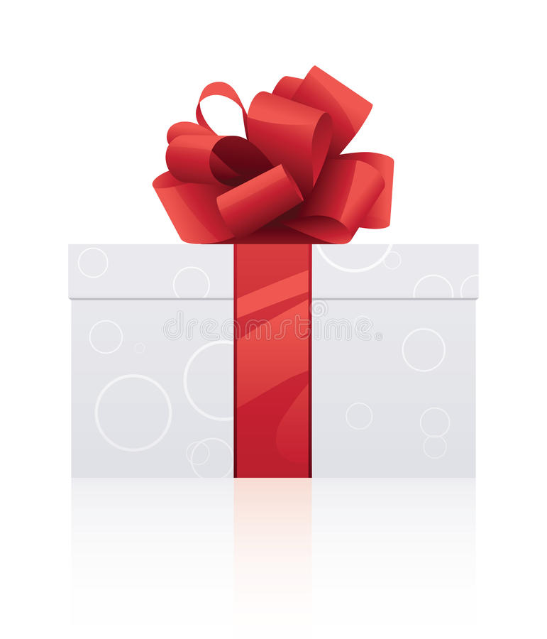 Gift wrapped present royalty free illustration