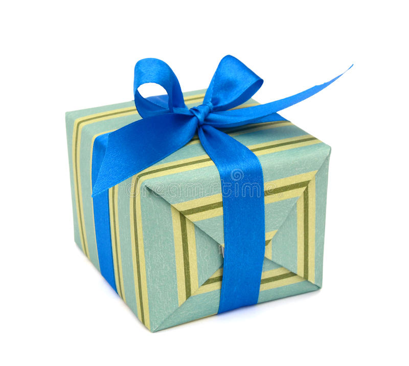 Gift wrapped present box royalty free stock photo