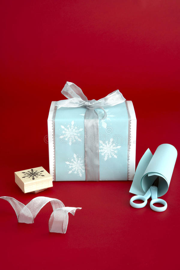 Gift Wrapping Materials Royalty Free Stock Photos