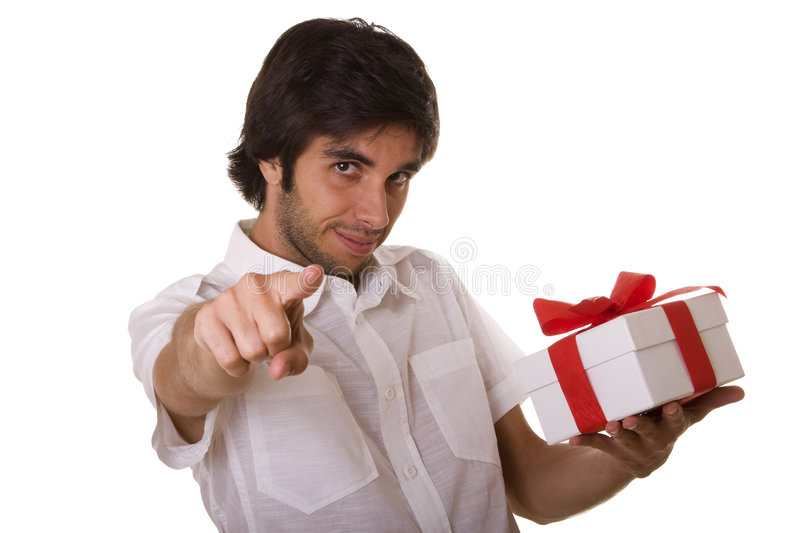 Download A gift for you stock photo. Image of isolated, handsome - 6451756