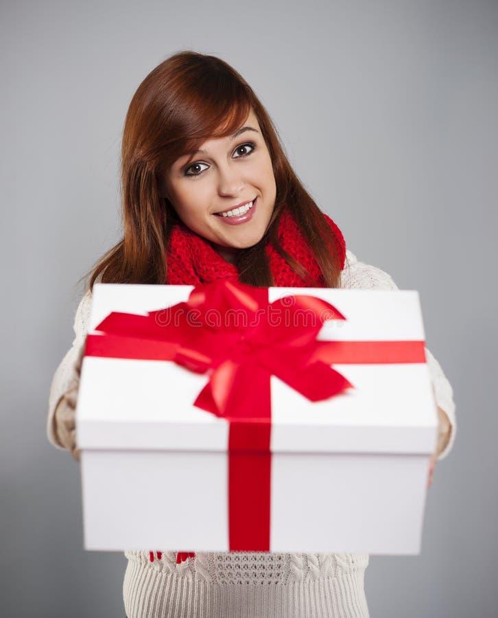 Gift for you! stock photos