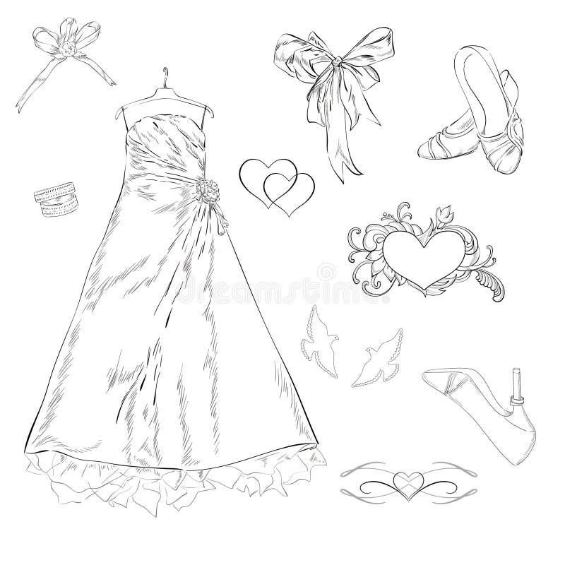 Gifta sig vektor illustrationer