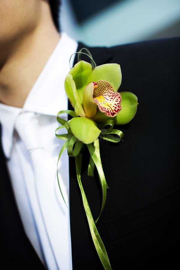 Gifta sig blomma för brudgum royaltyfri bild