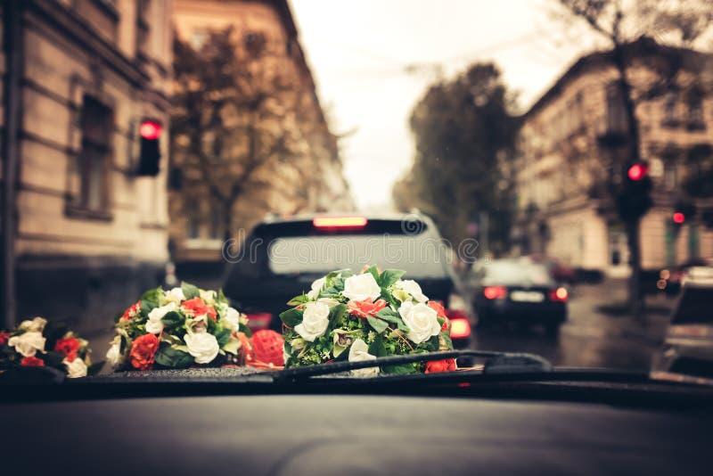 Gifta sig blommabouqet royaltyfri fotografi