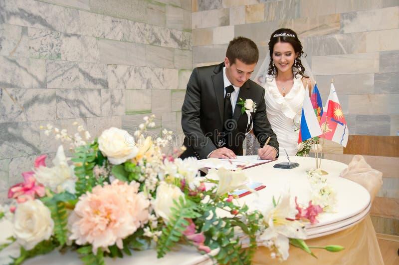 Gifta sig brudgum, brud, förbindelse royaltyfri foto