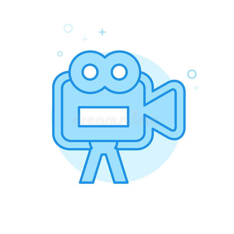 Gifta sig den plana vektorsymbolen för Videography, symbol, Pictogram, tecken Ljust - blå monokrom design Redigerbar slaglängd stock illustrationer