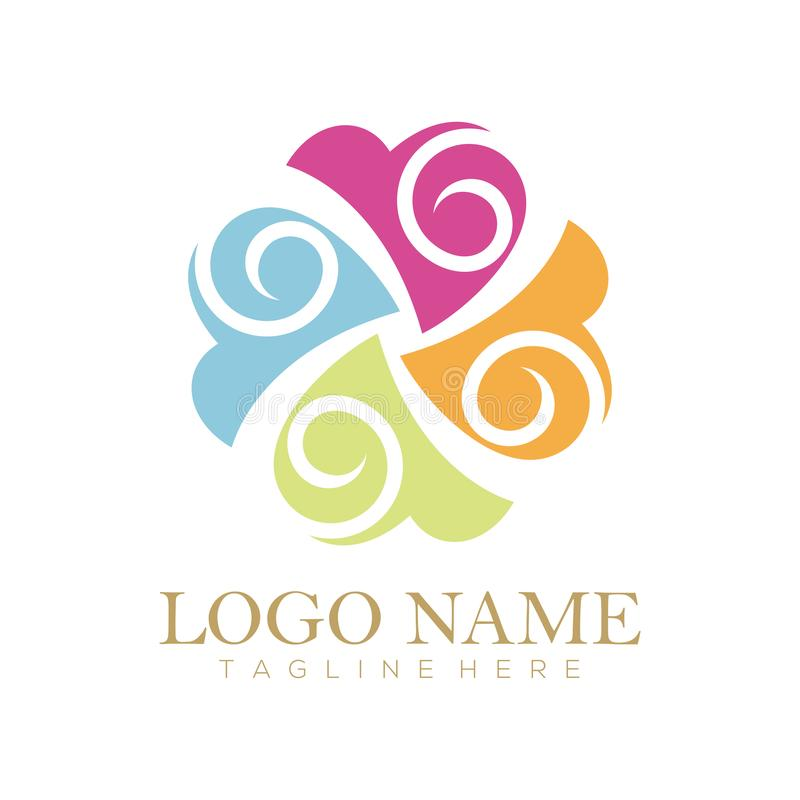 Gifta sig den servicelogo och symbolen vektor illustrationer