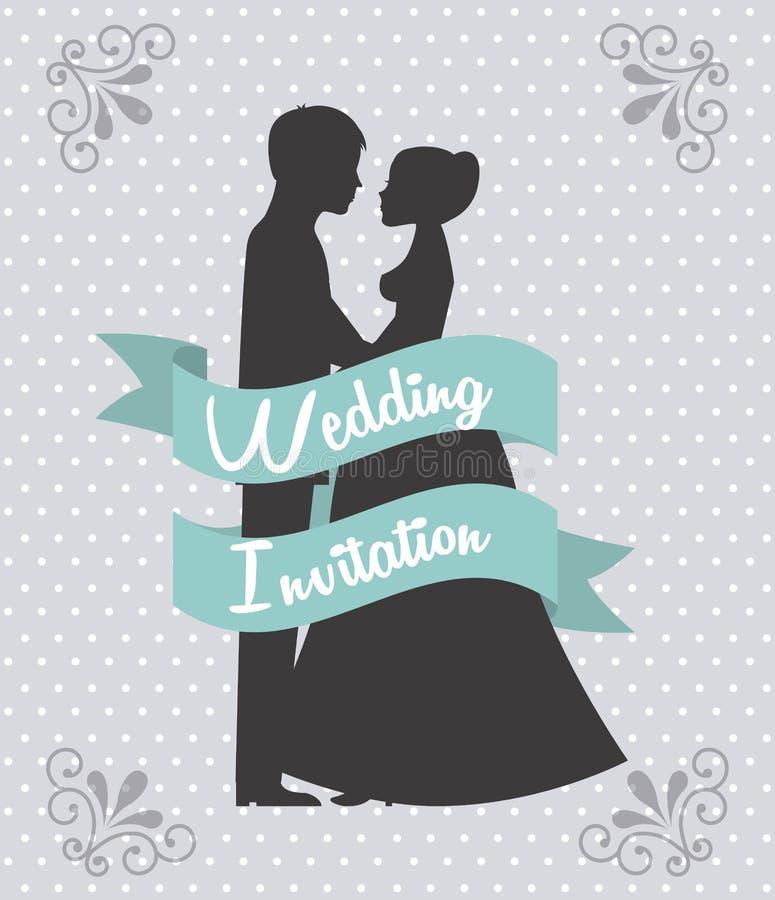 Gifta sig design vektor illustrationer