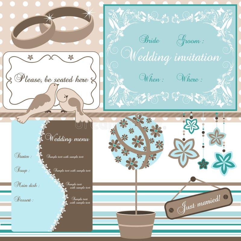 gifta sig för element royaltyfri illustrationer
