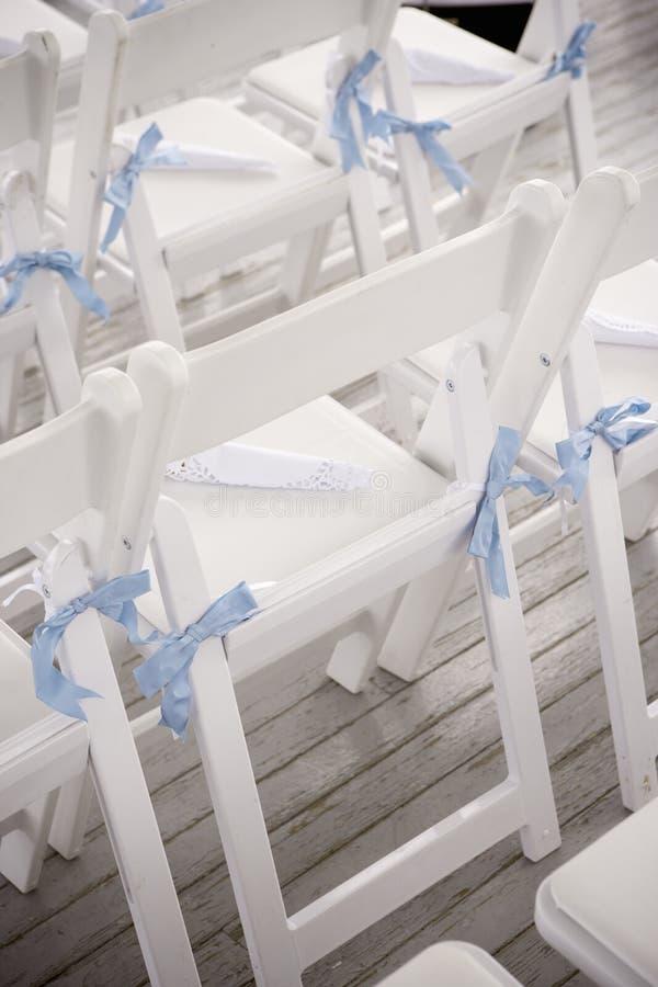 gifta sig för stolar royaltyfria bilder