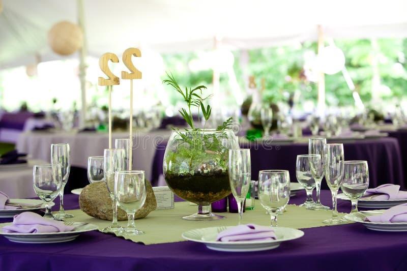 gifta sig för tabeller arkivbild