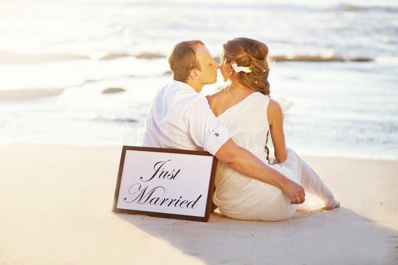 Gifta sig på stranden arkivbild