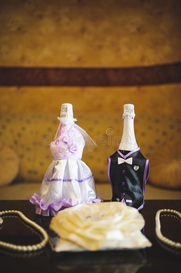Gifta sig parflaskor royaltyfri bild
