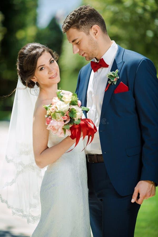Gifta sig parståenden på naturen royaltyfri fotografi