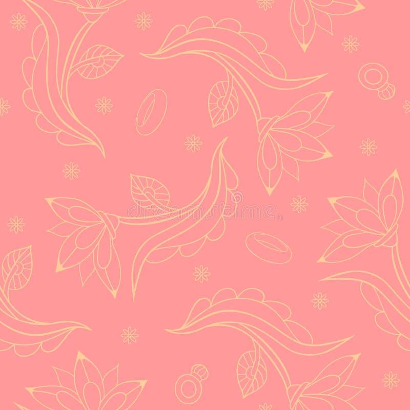 Gifta sig sömlös textur vektor illustrationer