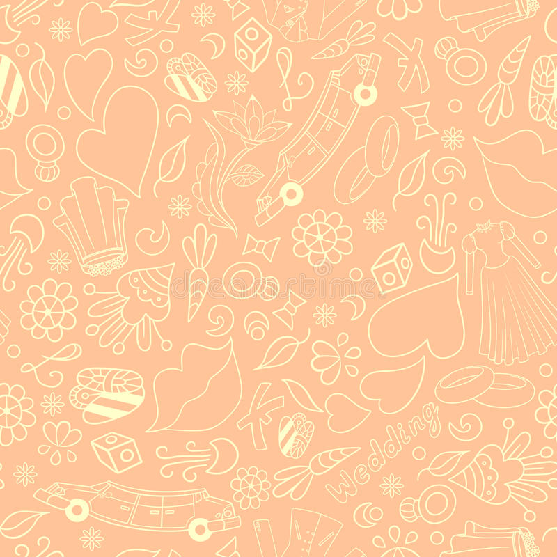 Gifta sig sömlös textur royaltyfri illustrationer