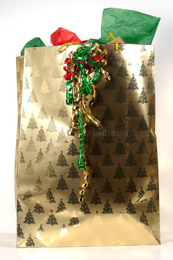 giftbag рождества стоковое изображение