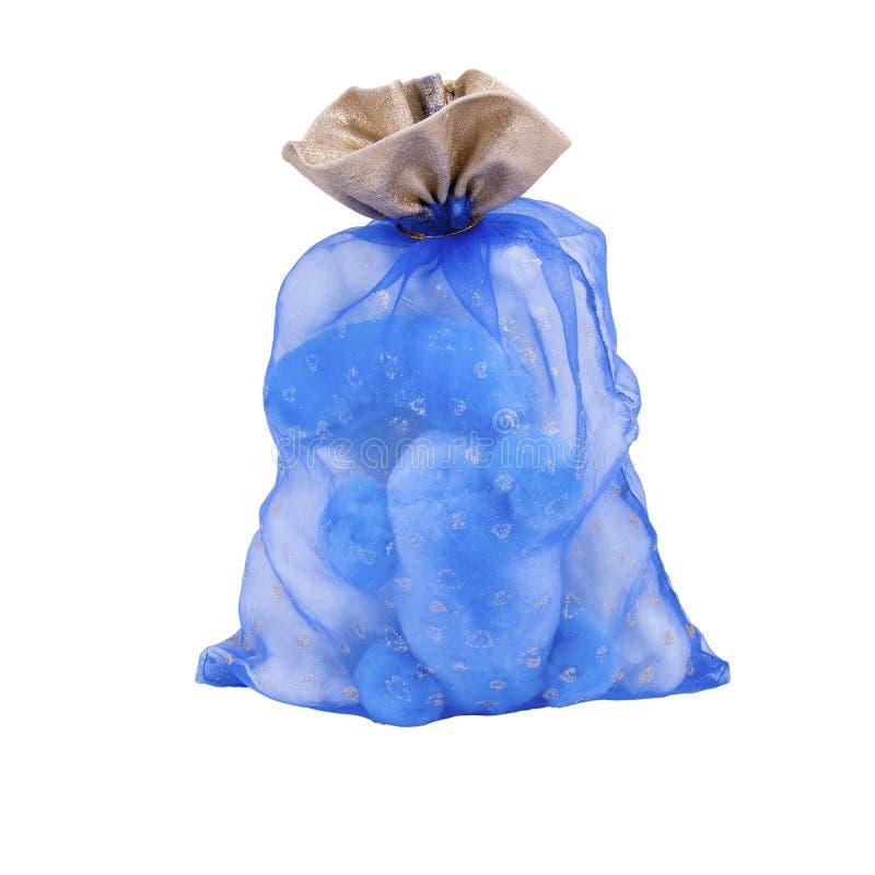 Giftbag bleu exceptionnel gentil de giftsack images stock
