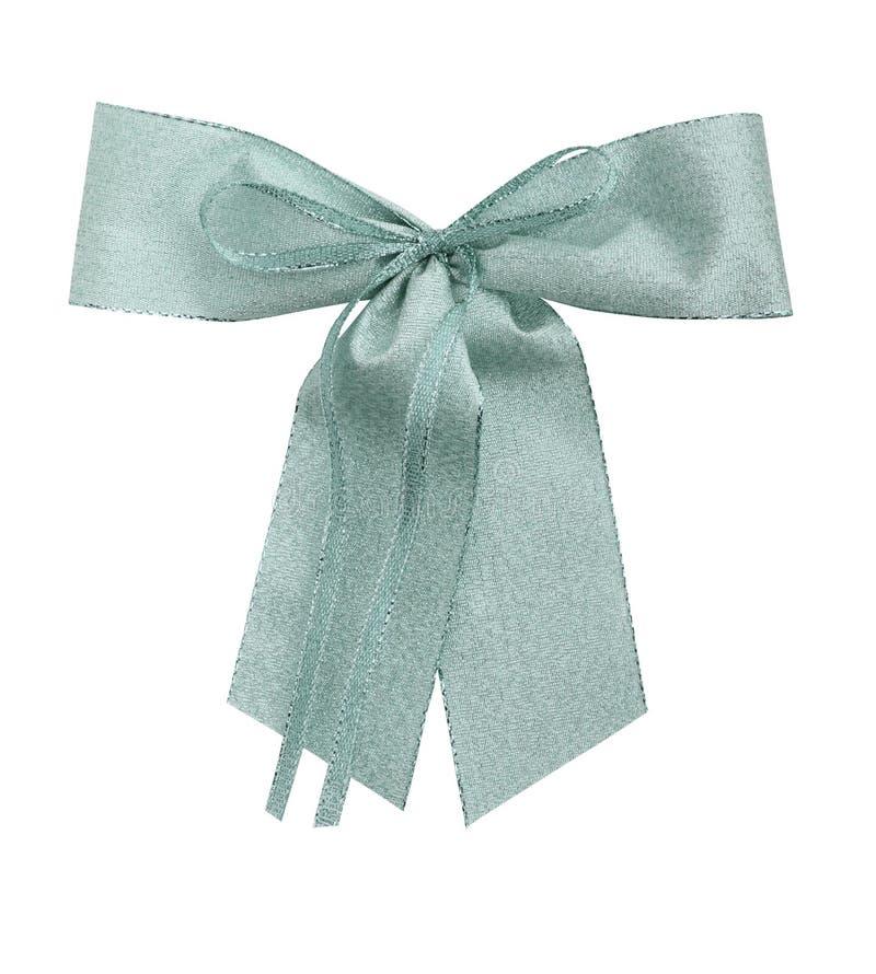 Giftbow de plata con el camino imagen de archivo libre de regalías