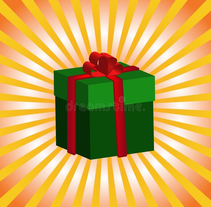 giftbox绿色 库存例证