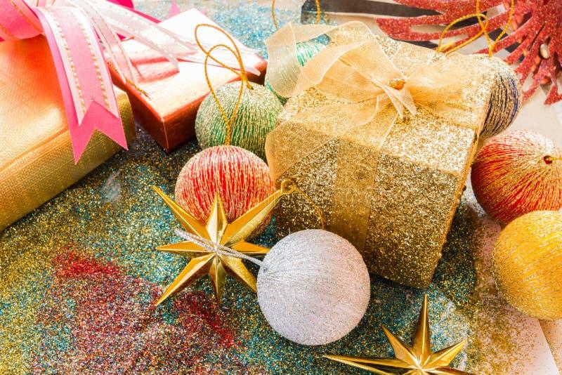 Giftbox and decorative stock image