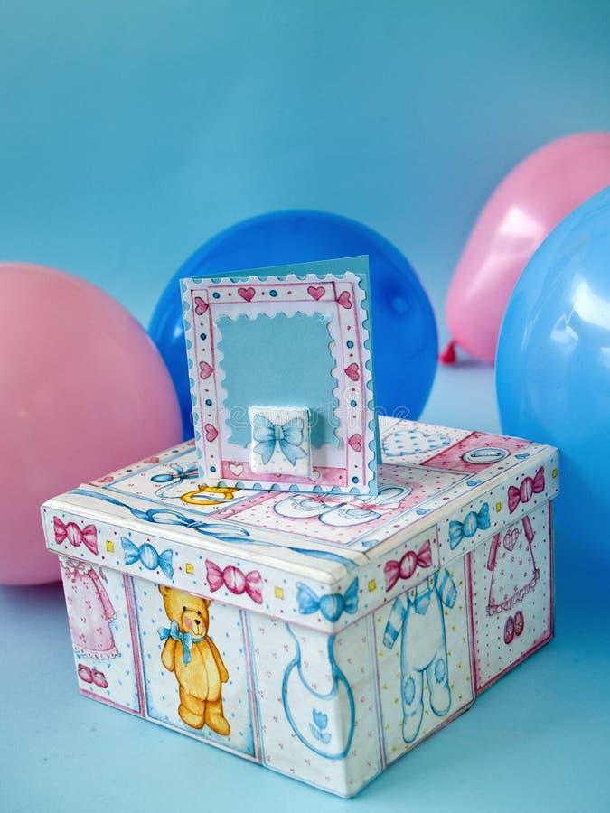 Giftbox do bebê imagem de stock royalty free