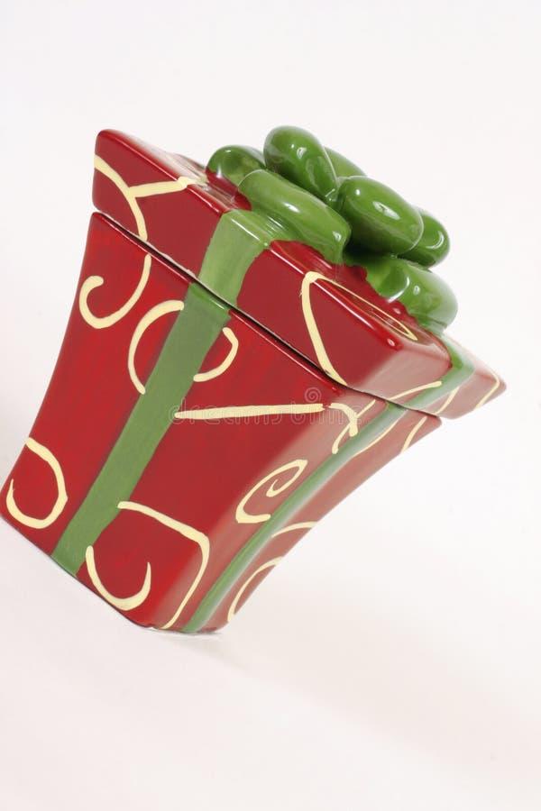 Giftbox si è inclinato immagine stock libera da diritti
