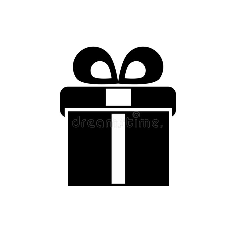 Giftbox wektoru ikona ilustracja wektor
