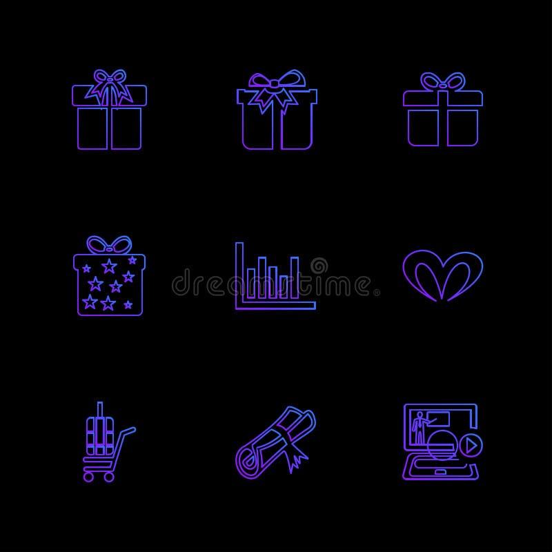 giftboxes, подарки, рождество, дни рождения, доллар, покупки, e иллюстрация штока