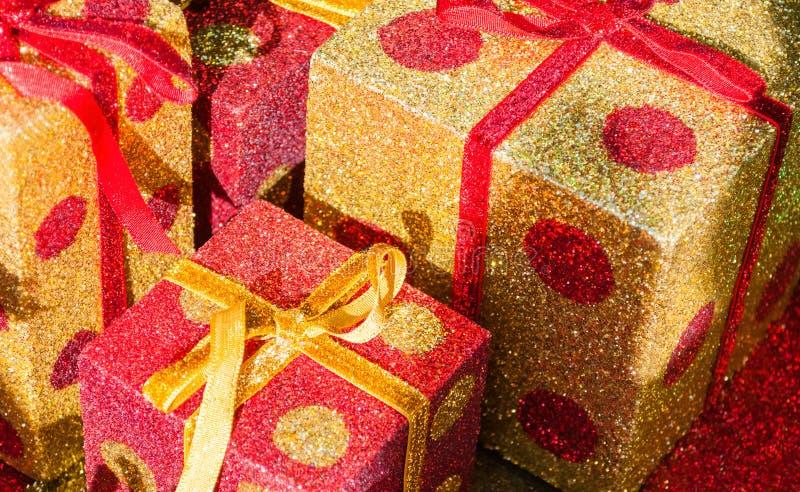 Giftboxes di Natale fotografia stock