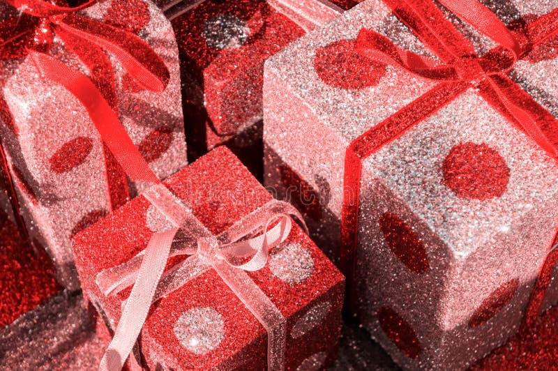 Giftboxes di Natale fotografia stock libera da diritti