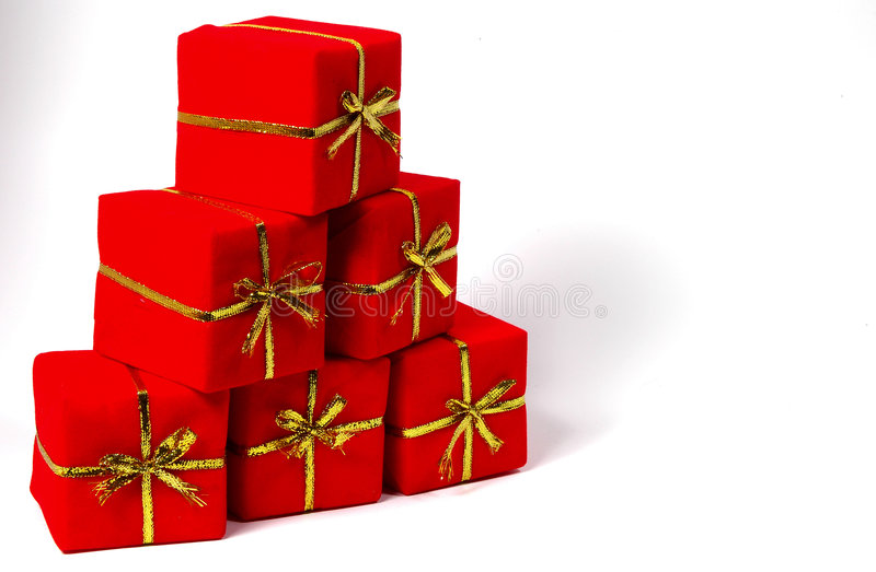 giftboxpyramid royaltyfri foto