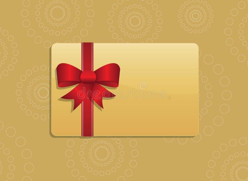 Giftcard royalty-vrije illustratie