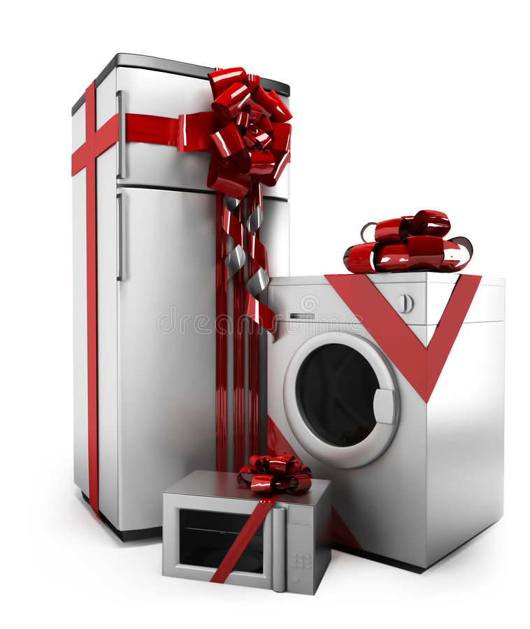 Download Gifted home appliances stock illustration. Illustration of display - 7074782