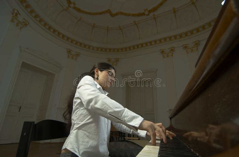 Gifted Pianist at the Piano-2 stock images