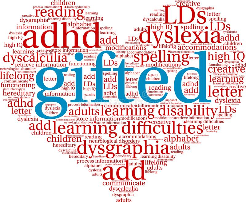 Gifted Word Cloud. On a white background vector illustration