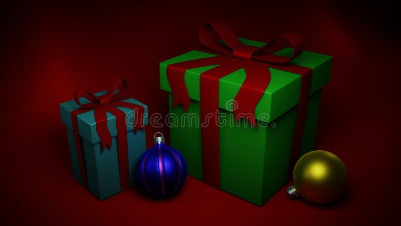 Giften en Kerstmisspeelgoed royalty-vrije stock fotografie