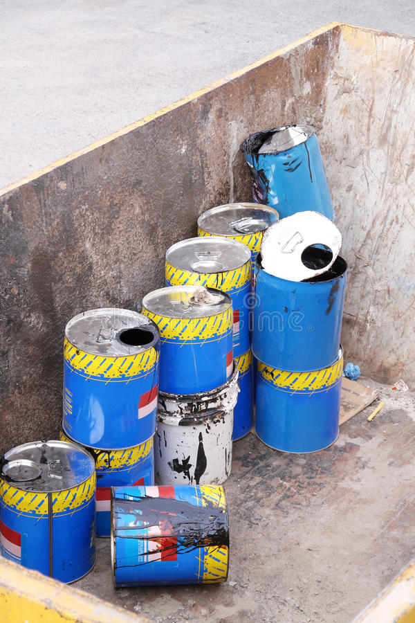Giftig Afval stock afbeeldingen