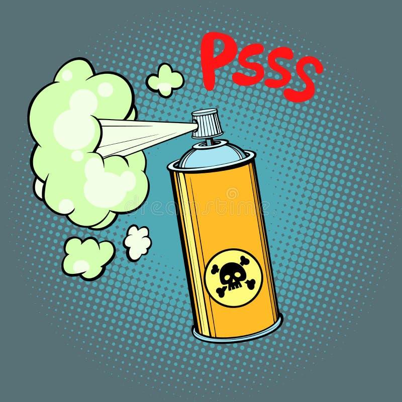 Giftig gas chemisch afval stock illustratie