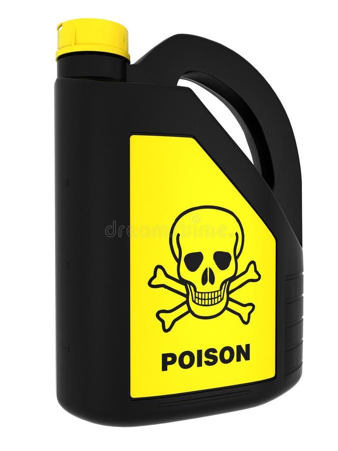 Giftig! Giftdose stock abbildung