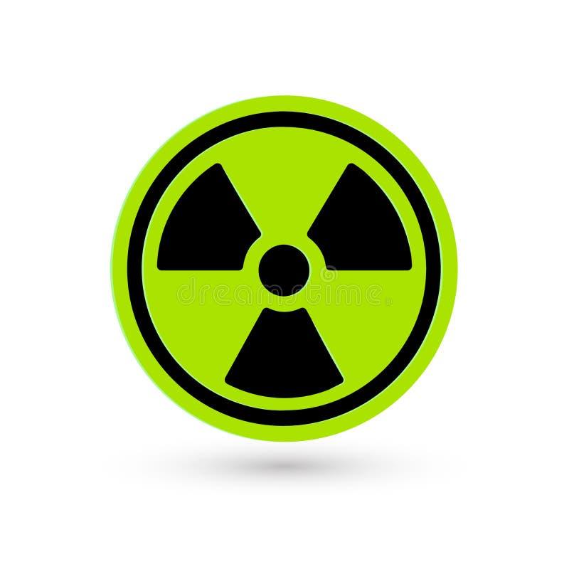 Giftig groen vectorpictogram Stralingspictogram Het symbool van de Biohazardwaarschuwing Geïsoleerd eenvoudig van technologie van vector illustratie