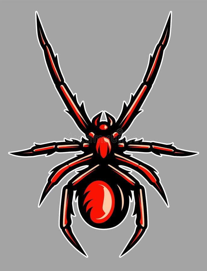 Giftig illustration för spindeltarantelmaskot royaltyfri bild