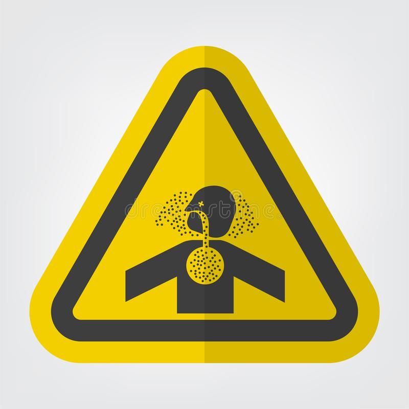 Giftige Gas-Erstickungs-Symbol-Zeichen-Isolat auf weißem Hintergrund, Vektor-Illustration ENV 10 vektor abbildung