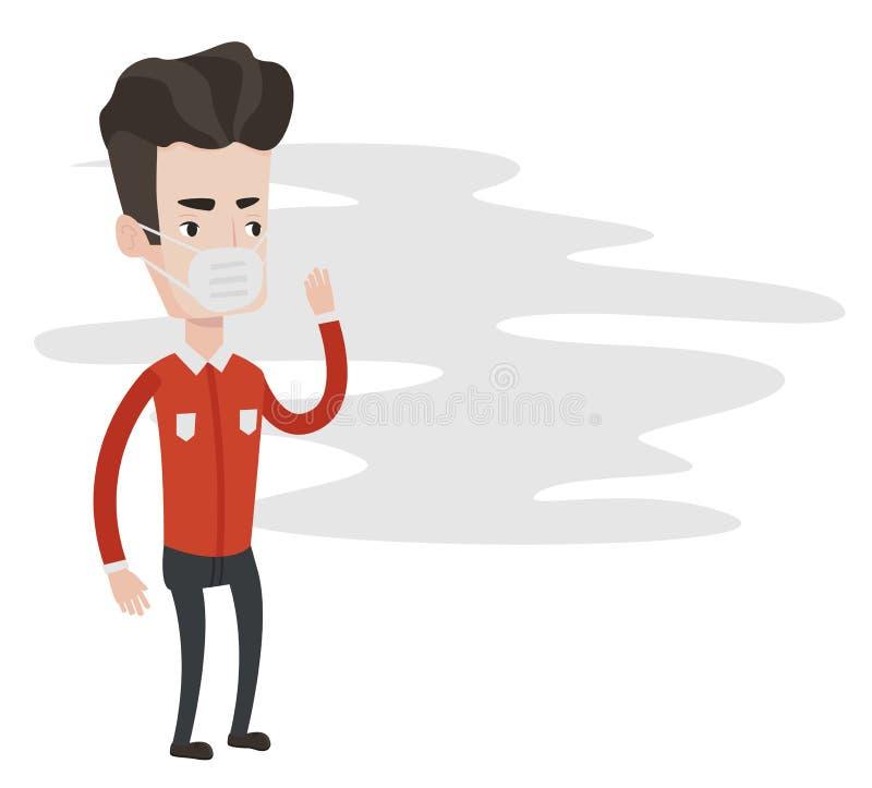 Giftige luchtvervuilings vectorillustratie stock illustratie