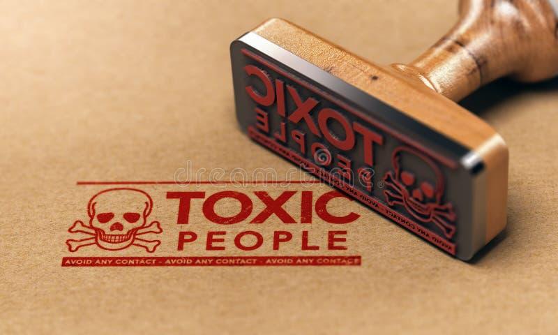 Giftige Mensen of Verhouding, Manipulatieperson concept vector illustratie