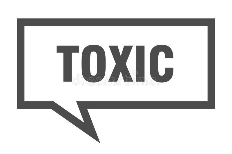 giftige Spracheblase stock abbildung