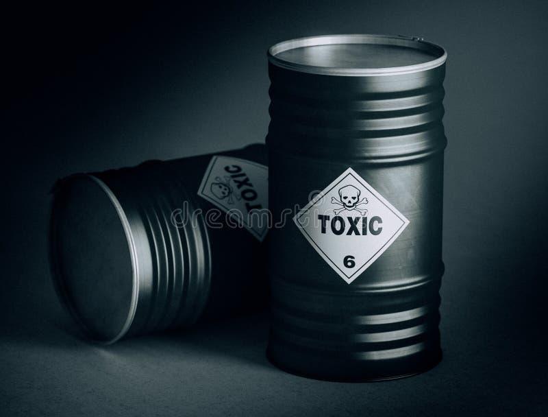 Giftiges Fass 3d stock abbildung
