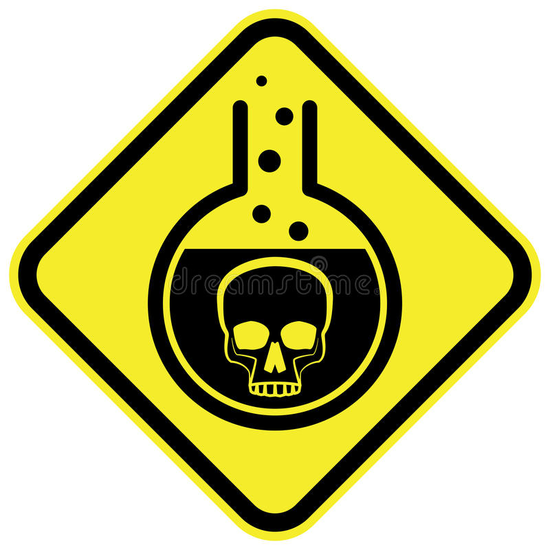 Giftigt kemiskt varningstecken vektor illustrationer